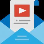 Icone pour représenter l'envoi d'email marketing et newsletter