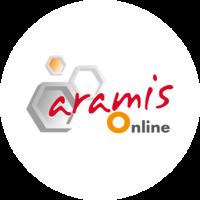 Logo Aramis Online sur rond blanc
